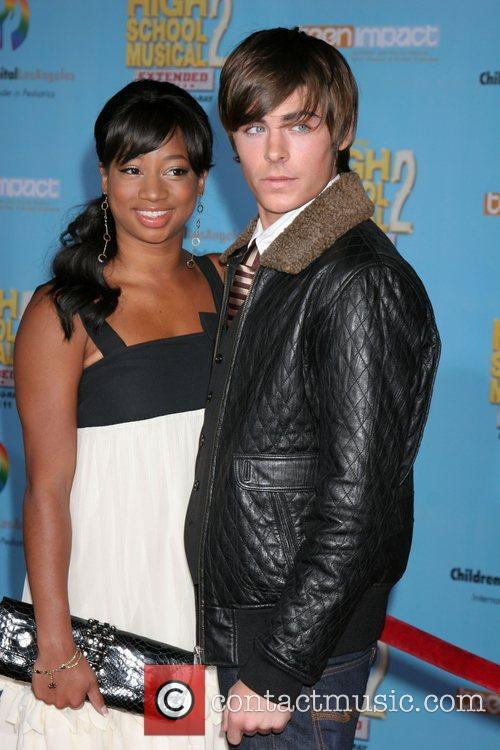 Monique Coleman and Zac Efron Screening of the...