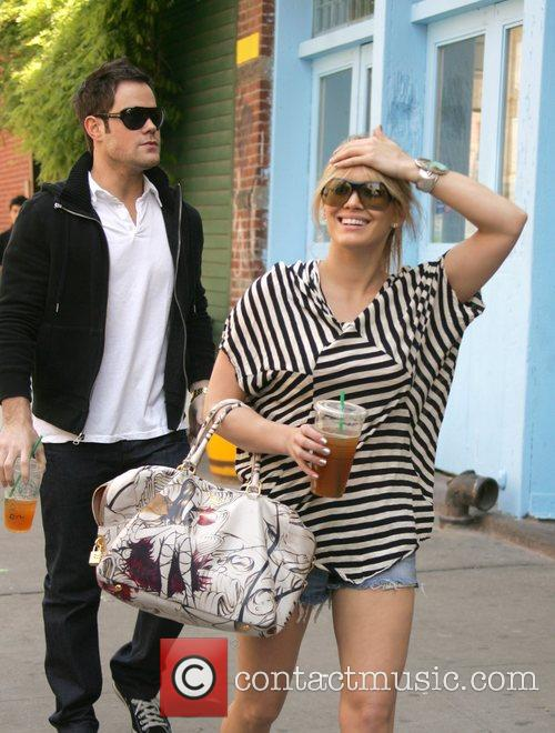 Hilary Duff, her boyfriend Mike Comrie