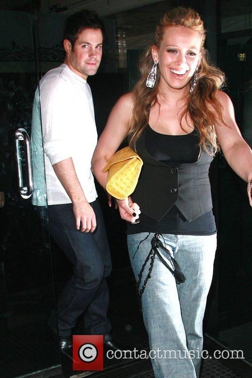 Hilary Duff and her hockey player boyfriend, Mike...