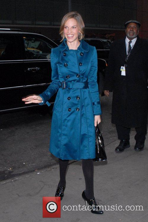 Hilary Swank arrives at the ABC studios to...