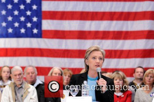 Hillary Clinton hosts a town hall meeting at...
