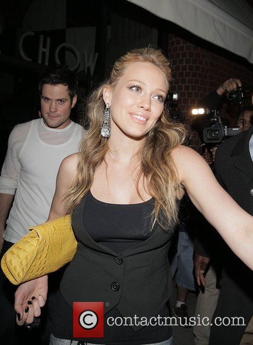 Hilary Duff Leaving Mr Chow's restaurant with friends...