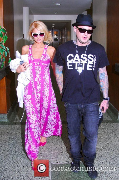 Paris Hilton and Benji Madden leaving a medical...