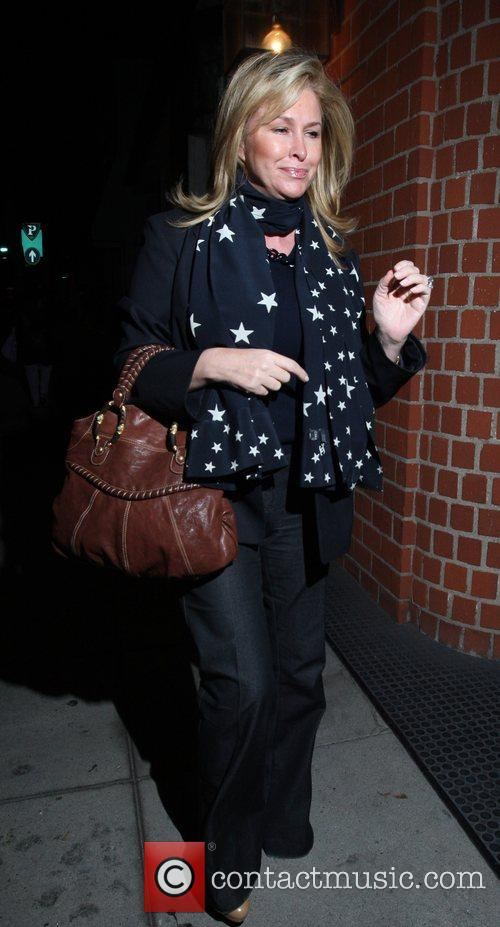 Kathy Richards-Hilton leaving Mr Chow in Beverly Hills...