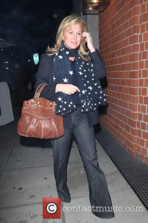 Kathy Richards-Hilton leaving Mr Chow in Beverly Hills