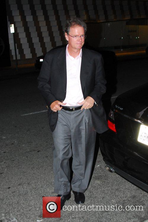 Richard Hilton leaving Mr Chow in Beverly Hills...