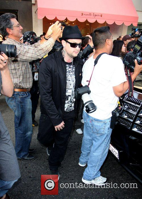 Benji Madden clearly not the centre of attention...