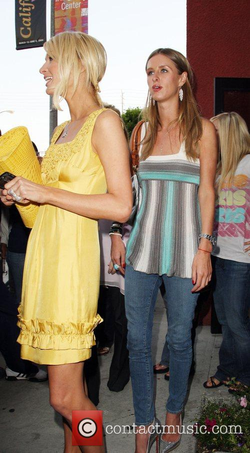 Paris Hilton and Nicky Hilton shopping at Kitson...