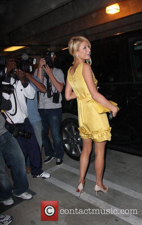 Paris Hilton in Robertson Boulevard parking garage after...