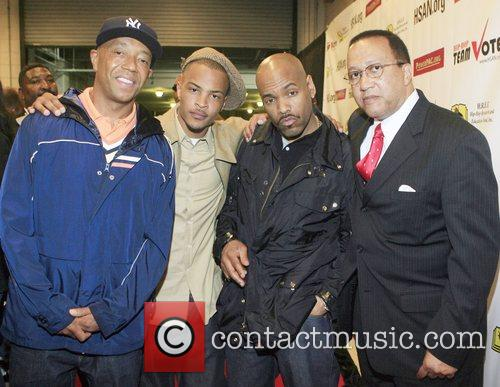 Russell Simmons, T.i., Dj Toomp and Dr. Ben Chavis 7
