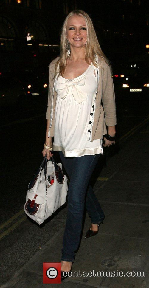 Hannah Sandling leaving the launch party for the...