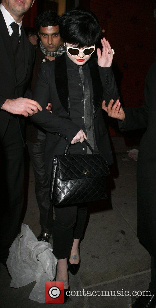 Kelly Osbourne leaving the launch party for the...