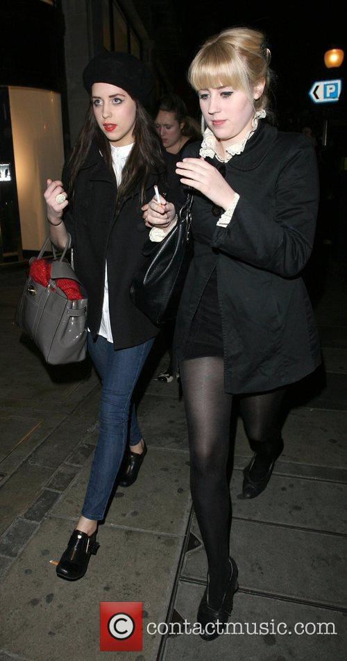Peaches Geldof, Her Friend and Leaving The Launch Party For The New H&m Store On Regent Street. 1