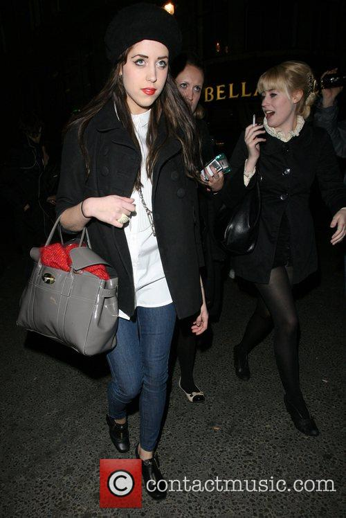 Peaches Geldof, Her Friend and Leaving The Launch Party For The New H&m Store On Regent Street. 5