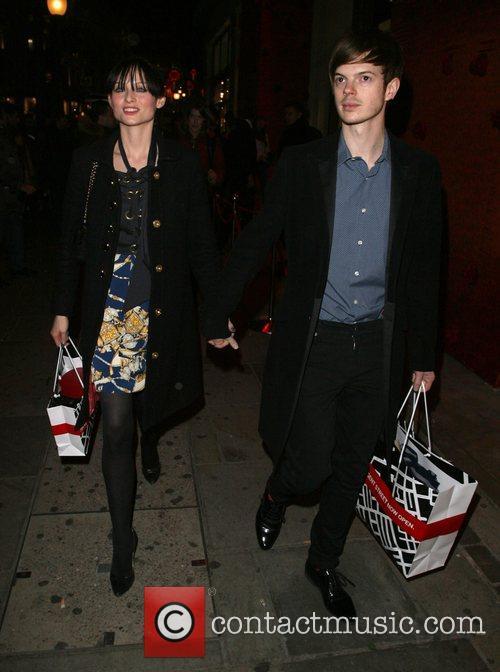 Sophie Ellis-Bextor and Richard Jones leaving the launch...