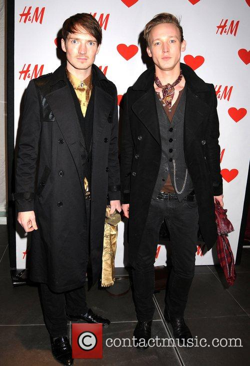 Guests launch party for the new H&M store...