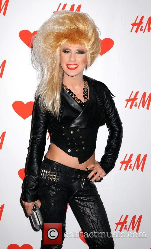 Jodie Harsh launch party for the new H&M...