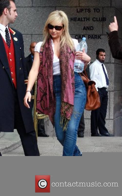 Gemma Merna Hollyoak's cast leave the Royal Garden...