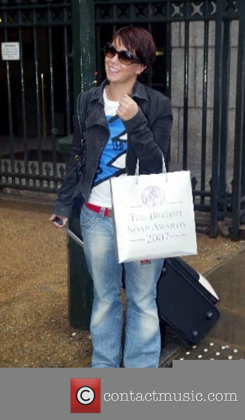 Jessica Fox Hollyoak's cast leave the Royal Garden...