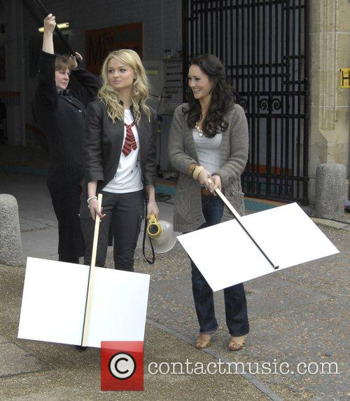 Emma Rigby and Claire Cooper who play Hannah...