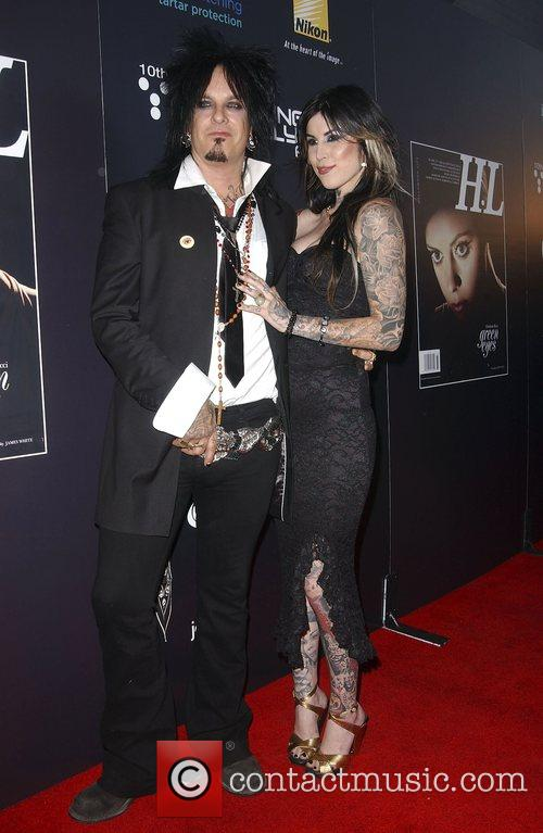 Nikki Sixx and Kat Von D 3