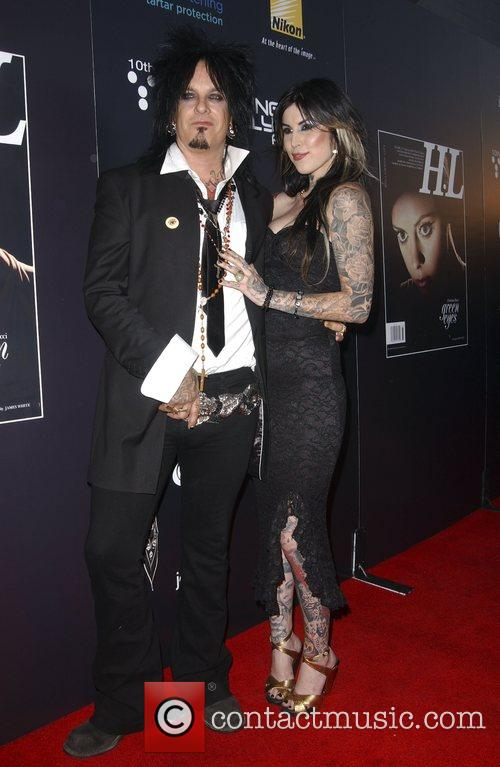 Nikki Sixx and Tattoo Artist Kat Von D 1