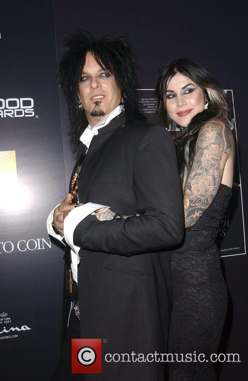 Nikki Sixx and Tattoo Artist Kat Von D 5