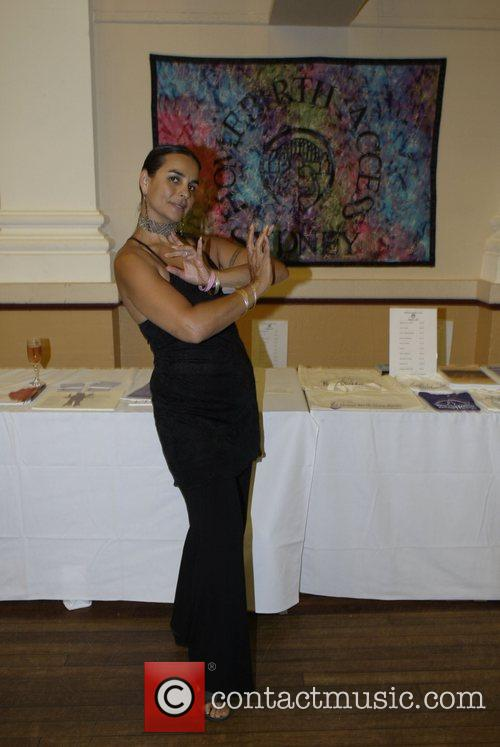 Bellydancer Maha Al Musa attends a screening of...