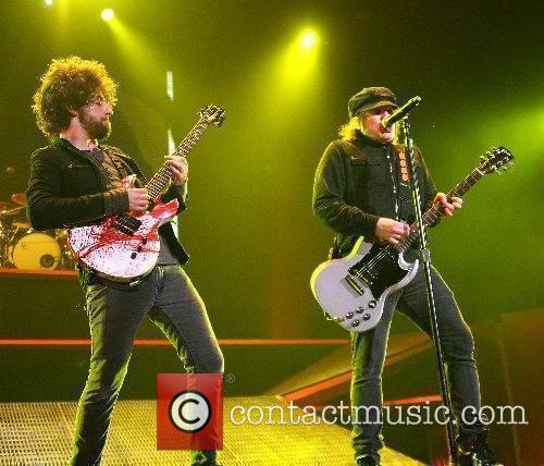 Joe Trohman and Patrick Stump of Fall Out...