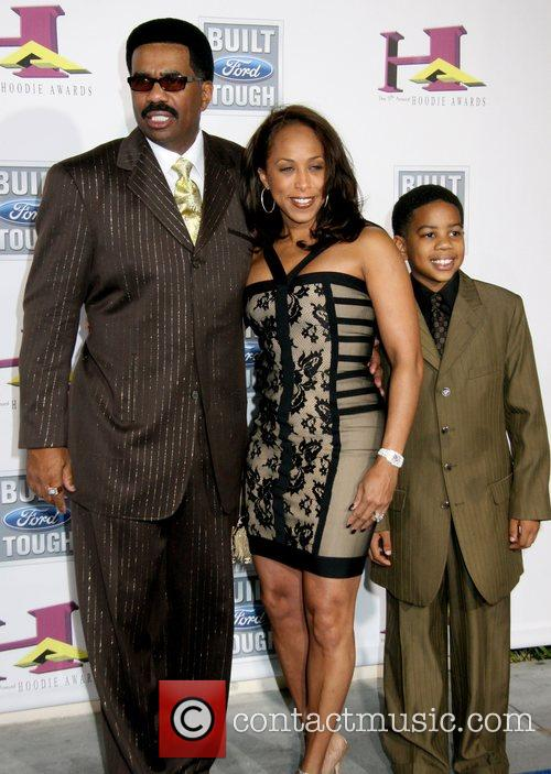 Steve Harvey and familly The 5th Annual Hoodie...