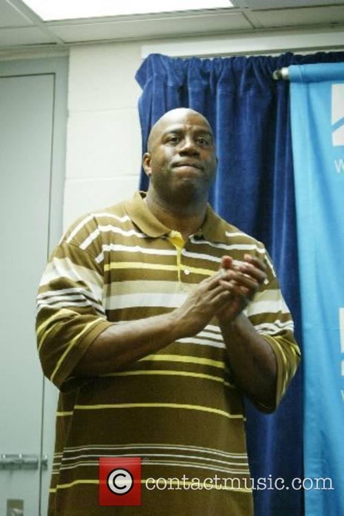 Earvin Magic Johnson Hoops For The Homeless event...