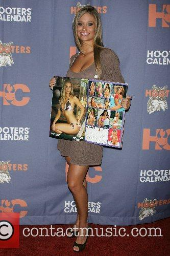 Sara Beth Hoots Hooters Swimsuit Calendar 2008 celebration...