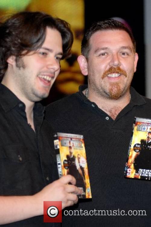 Hot Fuzz - DVD signing at HMV Oxford...