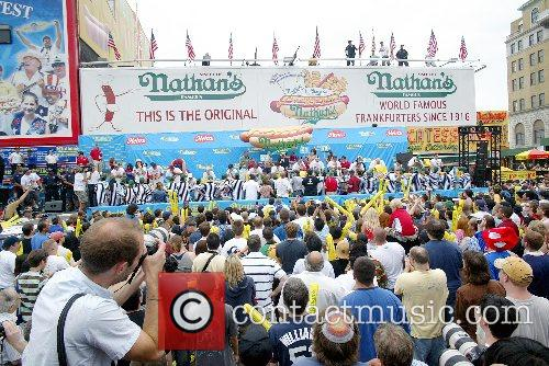 91st Annual Hot Dog Eating Contest at Coney...