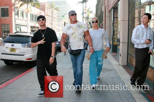 Nick Hogan, Hulk Hogan and Brooke Hogan leaving...