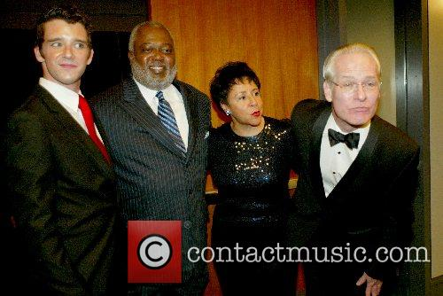 Michael Urie, Dr. SHeila Johson with husband and...