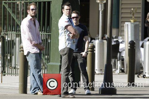 Human Nature band members out and about in...