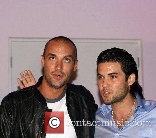 Calum Best and owner Josh at Hush nightclub