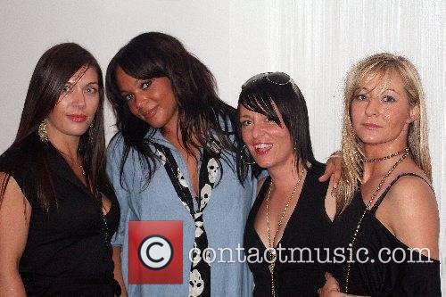 Shola Ama and friends at Hush nightclub Bournemouth,...