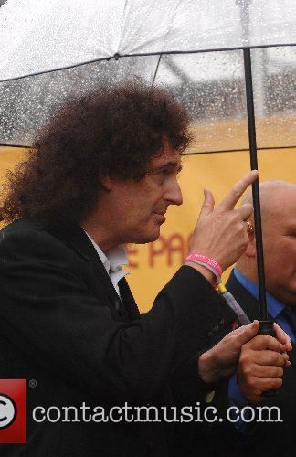 Brian May arriving for the Chris Cornell Concert...