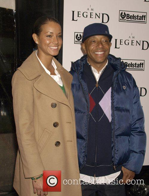 Porschla Coleman and Russell Simmons New York Premiere...
