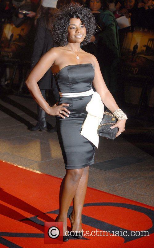 Alisha Bennett UK premiere of 'I Am Legend'...