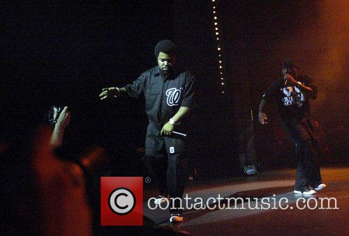 Ice Cube performing live in concert at the...