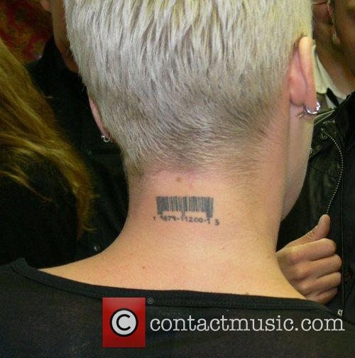 Pink (Alecia Moore)'s tattoos Backstage at the opening...
