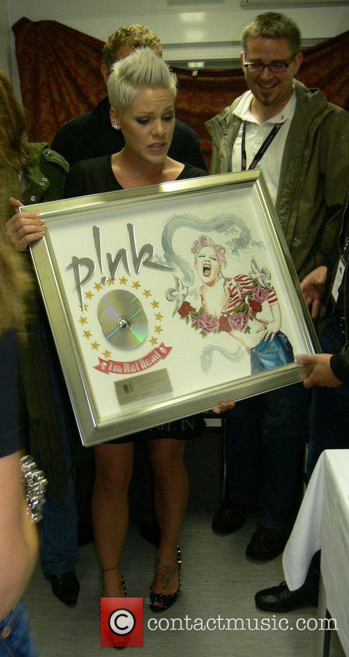 Pink (Alecia Moore) with her new German platinum...