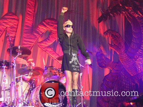 Pink (Alecia Moore) performing live Opening concert of...