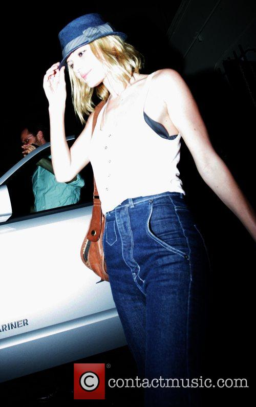 Kate Bosworth leaving Il Sole restaurant after dining...