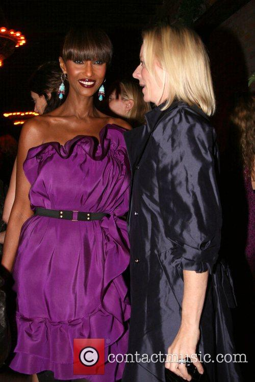 Iman and guest Barney's and Iman host a...