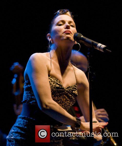 Imelda May performing at the Centaur, at Cheltenham...