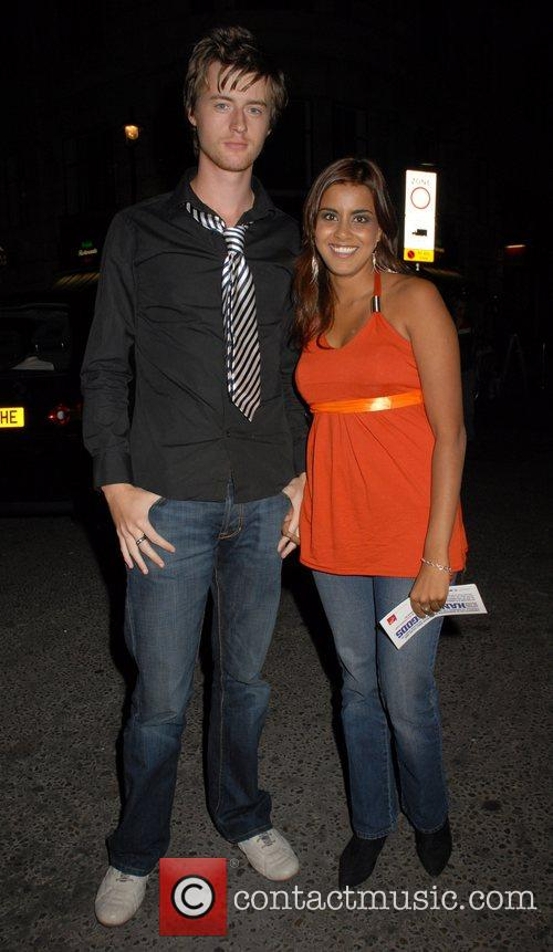 Pooja Shah and guest UK film premiere of...